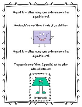 Quadrilateral Song with Quiz and answer key