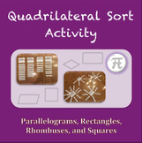 Quadrilateral Sort Activity (Geometry Activity)