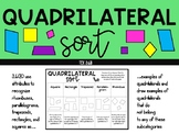 Quadrilateral Sort TEK 3.6B