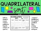 Quadrilateral Activity Sort