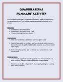 Quadrilateral Summary Activity