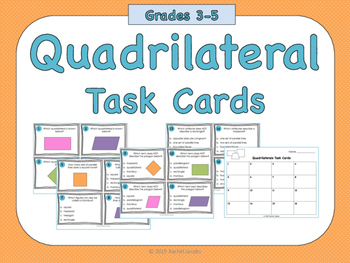 Quadrilateral Task Cards
