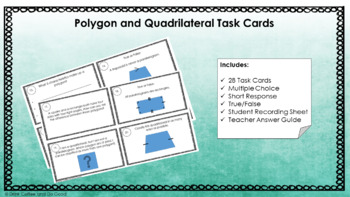 Polygon and Quadrilateral Task Cards