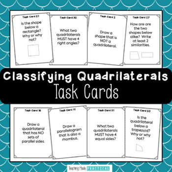 Classifying Quadrilateral Task Cards / Scoot - Quadrilateral Review