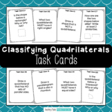 Classifying Quadrilateral Task Cards / Scoot - Quadrilater