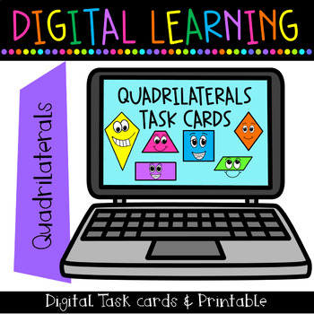 Quadrilateral Task Cards {Rigorous ~ High Level ~ Engaging ~ Great Discussions}