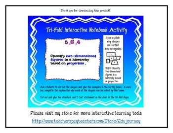 Quadrilateral Tri-Fold Interactive Activity