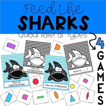 BUNDLE Quadrilateral Types- Packet, Worksheets, Notes, Games, Centers