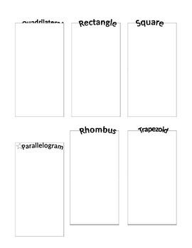 Quadrilateral Vocabulary Graphic Organizer