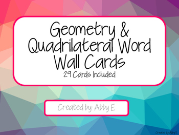 Quadrilateral Vocabulary Word Wall