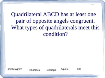 Quadrilateral review presentation