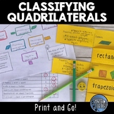Classifying Quadrilaterals - Hierarchy, Foldable, and Activity Sheet