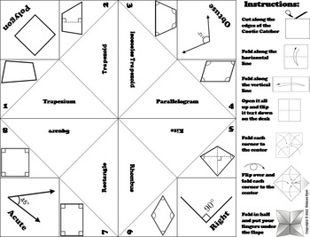 Classifying Quadrilaterals Activity/ Foldable