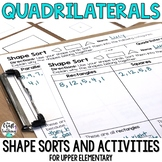 Quadrilaterals Shape Sort with Shape Cards