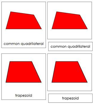 Quadrilaterals 3-Part Cards