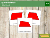 Quadrilaterals 3-Part Cards