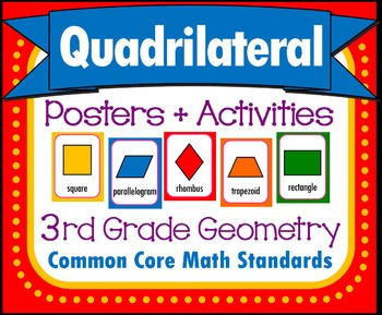 Quadrilaterals, Common Core Geometry, Math Set by Intentional Momma