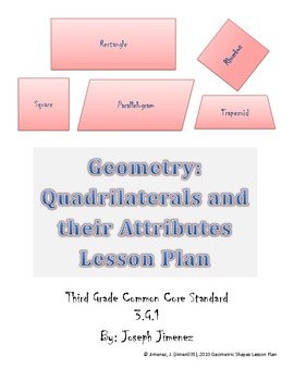 Quadrilaterals- 3rd Grade Geometry