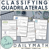 Classifying Quadrilaterals Worksheet Daily Math | Distance