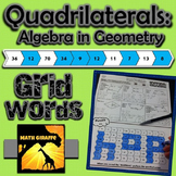 Quadrilaterals (Algebra in Geometry) - GridWords