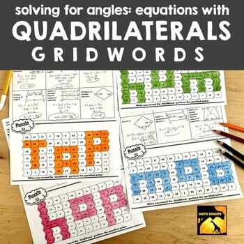Quadrilaterals (Algebra in Geometry) - GridWords
