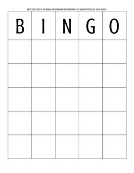 Quadrilaterals BINGO