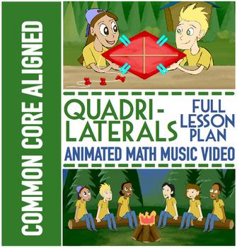 QUADRILATERALS: Classify Quadrilaterals Game, Quadrilaterals Worksheets & Song