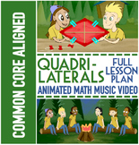Classifying Quadrilaterals Activities: Quadrilaterals Worksheets, Game & Song