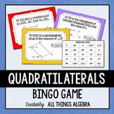 Quadrilaterals (Parallelograms, Rectangles, Rhombi, Squares, Trapezoids) Bingo