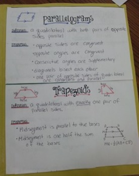 Quadrilaterals Book with Answer Key
