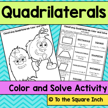 Quadrilaterals Color and Solve