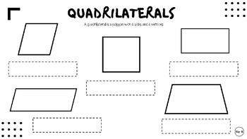 Quadrilaterals Cut & Paste Activity