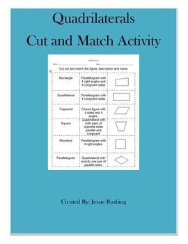 Quadrilaterals- Cut and Paste Activity