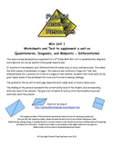 Quadrilaterals, Diagonals, and Midpoints - Differentiated Packet