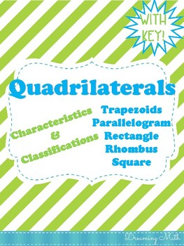 Quadrilaterals Doodle Notes
