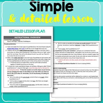 Quadrilaterals - FULL LESSON PLAN