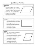 Quadrilaterals Fact Sheet