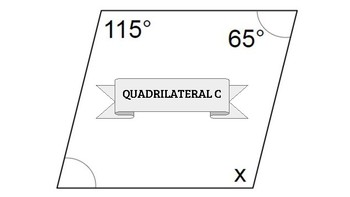 Quadrilaterals - Find the Missing Angle