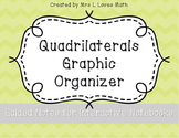 Quadrilaterals Graphic Organizer