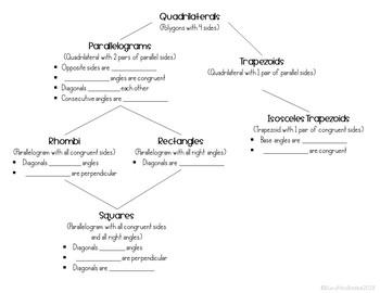 Quadrilaterals Graphic Organizer