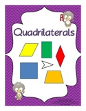 Quadrilaterals - Identifying, sorting, drawing, problems