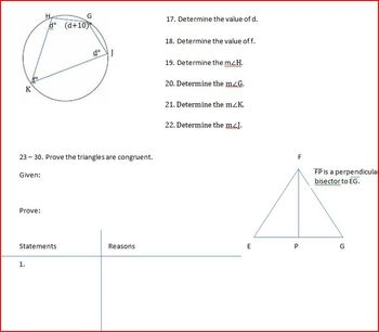 Quadrilaterals Incribed in Circles (WS)