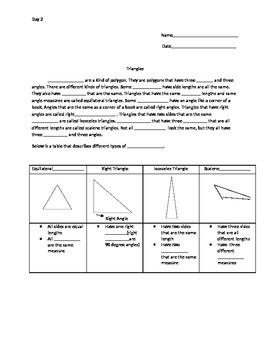 Quadrilaterals Information Gap Activity Packet B