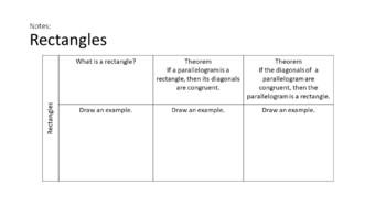 Quadrilaterals -  Interactive Notebook Activities