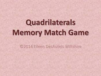 Quadrilaterals Memory Match Game