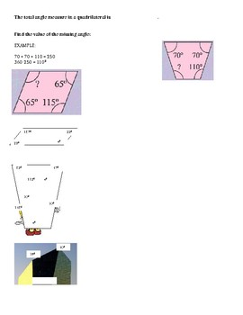 Quadrilaterals Notes and Exit Ticket