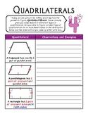 Quadrilaterals: Notes