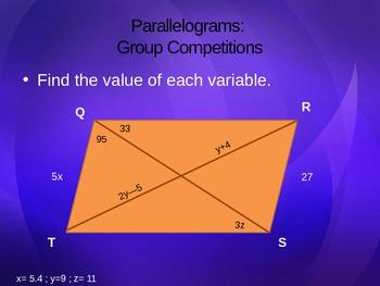 Quadrilaterals: Parallelograms & Rectangles
