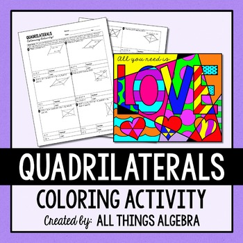 Quadrilaterals (Parallelograms, Rectangles, Rhombi, Squares) Coloring Activity