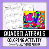 Quadrilaterals (Parallelograms, Rectangles, Rhombi, Squares) Coloring Activity
